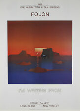 """""""I Am Writing From Cyclades"""" by Jean Michael Folon Poster 30""""x22"""""""