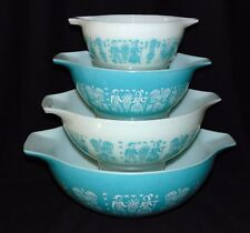 Pyrex BUTTERPRINT *4 PC CINDERELLA  MIXING BOWL SET*