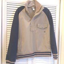 Vintage OP Ocean Pacific 1/2 Zip Pullover M Tan Jacket Coat Skate Surfer
