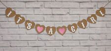 IT'S A GIRL BABY SHOWER CHRISTENING PERSONALISED BUNTING NURSERY GARLAND BANNER
