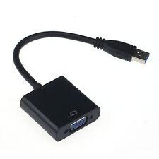 USB 3.0-auf-VGA-Videoanzeige Externe Kabel-Adapter für Win 7 8 Black Beliebt