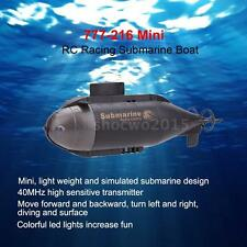 High Quality Mini RC Racing Submarine Boat R/C Toys w/40MHz Transmitter Black AF