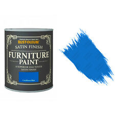Rust-Oleum Cornflower Blue Satin Premium Furniture Paint Shabby Chic 125ml