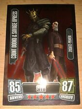 Force Attax Star Wars Serie 2 Zusatz-Power Nr.221 Dooku & Opress Sammelkarte