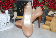 STUART WEITZMAN CAMEL TAN LEATHER HIGH HEEL PLATFORM WOMEN'S PUMP SHOES SIZE 8 M