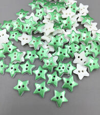 100pcs Resin Green Star Sewing Buttons scrapbooking decoration 13mm