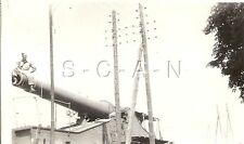 WWII US RP- US Army- Italy Captured German or Italian Railroad Gun- Artillery