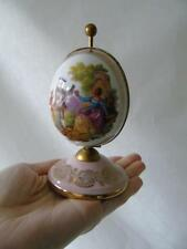 Vintage Goumot Labesse Limoges Fragonard Egg Shaped Perfume Box & Bottles 5.5""
