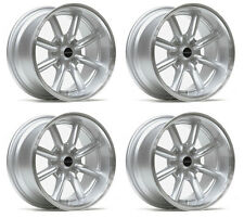 "ULTRALITE TB 15"" x 8J ET0 4x100 DISH SILVER MACHINED LIP ALLOY WHEELS JR19 Y3134"