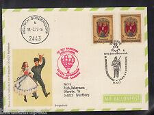 W 05 ) Austria 1977 Sonder Ballonpost  OE-DZF Raiffeisen Deutsch Brodersdorf