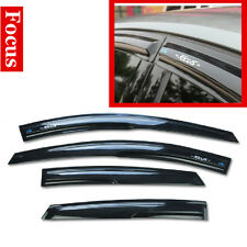 4 Pcs Wind Rain /Sun Guards Visor Vent  For Ford Focus 2005-2011 Sedan/Hatchback