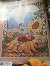 cross stitch chart SUNFLOWER FANTASY by Sue Cook