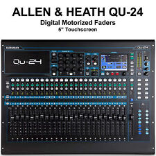 ALLEN & HEATH QU-24 DIGITAL TOUCHSCREEN MOTORIZED FADERS MIXER $100 INSTANT OFF