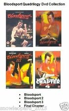 BLOODSPORT QUADRILOGY DVD Movie Film Collection Part 1 2 3 4 Blood Sport Van Dam