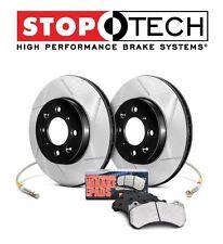 Honda S2000 AP2 06-09 Front Slotted Brake Rotors + Pads KIT StopTech 977.40017F