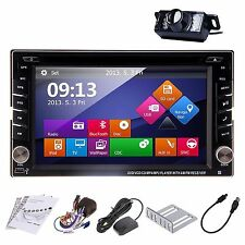 GPS Navi HD Double 2DIN Car Stereo CD DVD Player Bluetooth BT iPod MP3 TV+C