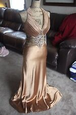 BICCI SMALL DRESS GOLD BRONZE EVENING COCKTAIL WOMEN SZ SMALL/MED VINTAGE PARTY
