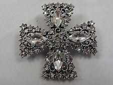 Signed Premier Designs Maltese Cross Pin / Brooch / Pendant