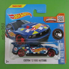 HOT WHEELS 2016 -  Custom ´12 Ford Mustang -  HW Race Team - 3  - neu in OVP