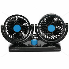12V double ventilateur d'air 360 ° tout-rond de rotation automotive cooling cooler voiture van camion