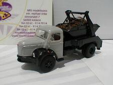 """Brekina 85395 # Berliet GLR 8 AK Ladegut Baujahr 1949-1963 """" grau-schwarz """" 1:87"""