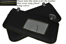 YELLOW STITCH FITS SUZUKI GRAND VITARA 2005-2012 2X SUN VISORS LEATHER COVERS