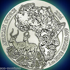 2014 Rwanda IMPALA 1oz Silver Mint Sealed African Wildlife Bullion Coin ANTELOPE