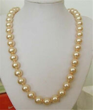 long 10mm South Sea Golden Shell pearl necklace 24 inches
