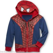 SPIDERMAN Jacket NeW Boy's size 3T Hooded Costume Hoodie Spider Man Hood MASK