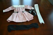 American Girl Samantha's Talent Dress, Hair Ribbon, Black Tights & Black Patent