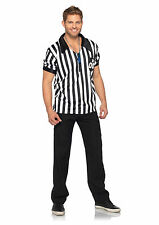 NEW Referee Shirt Costume Basketball/Football/Sports Ref - Adult Men's