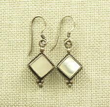 SILBER Ohrringe Perlmutt antik earrings Ohrhänger silver Schmuck ohrstecker