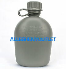 US Military 1 Quart QT HARD RIGID PLASTIC CANTEEN ARMY Foliage 1QT BPA Free NEW