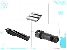 M44 Bolt-on Muzzle Brake and Short Scope Mount, Free 5pack Stripper Clips Set.