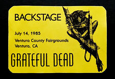 Grateful Dead Backstage Pass Tarsier Wild Animal Ventura California 7/14/1985 CA