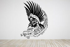 Wall Room Decor Art Vinyl Sticker Mural Aztec Warrior Skull Dead Grim Big AS223