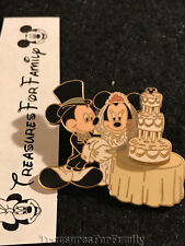 Disney Pin Mickey & Minnie Cutting the Wedding Cake Bride Groom FREE SHIP