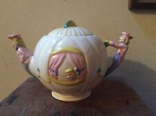 Art deco Weetman pottery cendrillon ware theiere 1950s walt disney pumpkin