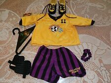 AMERICAN GIRL SOCCER JERSEY SHORTS CLEATS SHIN GUARD PLEASANT CO RETIRED AGOT