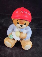 1988 Enesco Lucy Rigg Bear With Daisy Loves Me Loves Me Not Dated