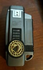 dolphin butane torch cigar cigarette lighter charcoal color excellent condition