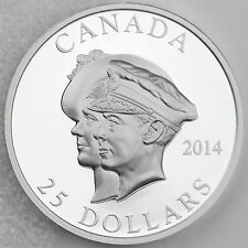 Canada 2014 $25 First Royal Visit 75th Anniversary Ultra High Relief Pure Silver
