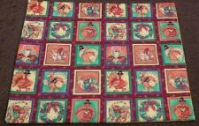 COUNTRY COTTAGE SET OF 4 THANKSGIVING HOLIDAY TURKEY QUILTED FABRIC PLACEMATS