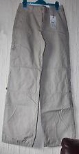 BNWT Jackpot Environmentally Sustainable Eco Beige Cargo Trousers UK 6 8 RRP £70
