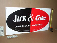 WHISKEY & COCA-COLA - Real Big OLD SIGN - ADVERTISES  BOTH  COKE & JACK DANIEL'S