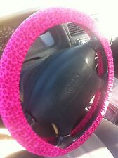 Pink Leopard Steering Wheel Cover
