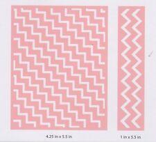 Kirstie Allsopp Cuttlebug ™ Carpeta de Grabación en Relieve Zig Zag y contorno 2002315