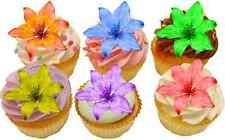 30x LILY BEAUTIFUL PRETTY LILIES FLOWERS FLAT EDIBLE RICE PAPER CAKE TOPPERS D1