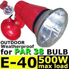 E40 METAL lamp holder ES ADJUSTABLE weatherproof PAR 38 spotlight Bulb RED new