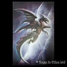 *PURPLE DRAGON* Fantasy Art 3D Postcard By Alchemy Gothic (15x10cm)
